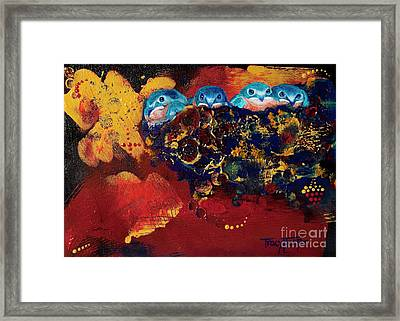 Growing Pains Framed Print by Tracy L Teeter