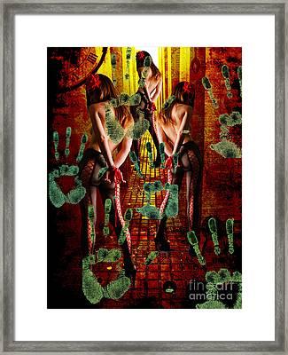Grubby Littel Hands Enslave Framed Print by Tammera Malicki-Wong