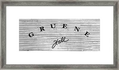 Gruene Hall Framed Print by Stephen Stookey