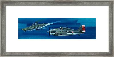 Grumman F4rf-3 Wildcat Framed Print by Wilf Hardy