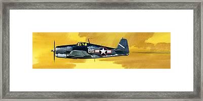 Grumman F6f-3 Hellcat Framed Print by Wilf Hardy