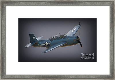 Grumman Tbf Avenger No.41 Bluegray Framed Print by Gus McCrea