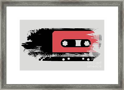 Grunge Faded Analogue Retro Audio Tape Framed Print by Shawn Hempel
