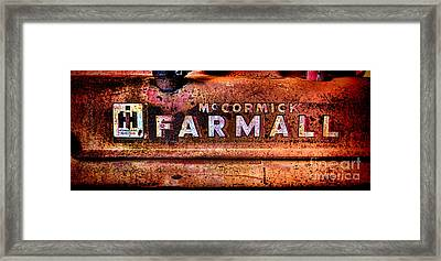 Grunge Mccormick Farmall  Framed Print by Olivier Le Queinec