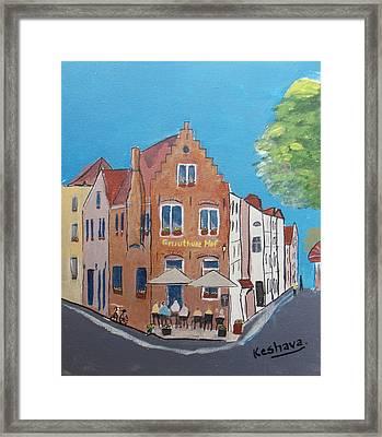 Gruuthuse Hof, Brugge, Belgium Framed Print by Keshava Shukla