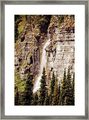 Gtts Waterfall Framed Print by Marty Koch
