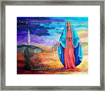Guadalupe De La Frontera Framed Print by Candy Mayer