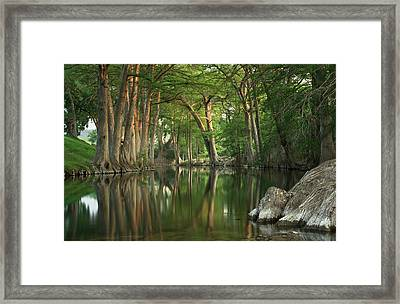 Guadalupe River Reflections Framed Print by Paul Huchton