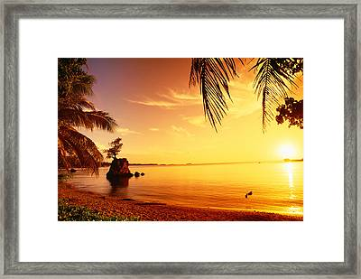 Guam, Agat Bay Framed Print by Dave Fleetham - Printscapes