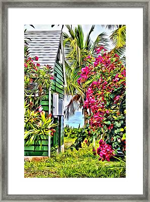 Guana Home Framed Print by Anthony C Chen