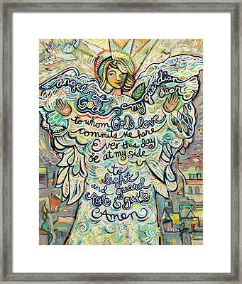 Guardian Angel Framed Print by Jen Norton