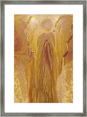Guardian Angel Framed Print by Linda Sannuti
