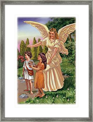 Guardian Angel Framed Print by Valer Ian