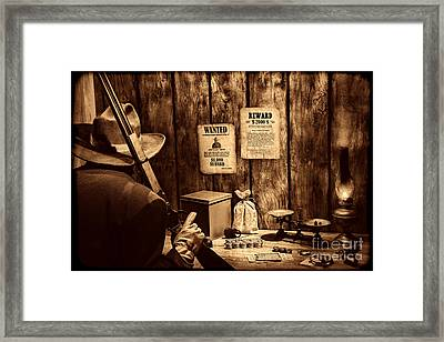 Guarding The Payroll Framed Print by American West Legend By Olivier Le Queinec