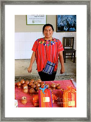 Guatemala Mayan Coffee Vendor Framed Print by The Art of Alice Terrill