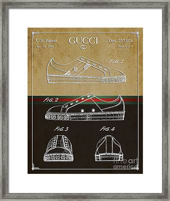 Gucci Shoe Patent 2 Framed Print by Nishanth Gopinathan
