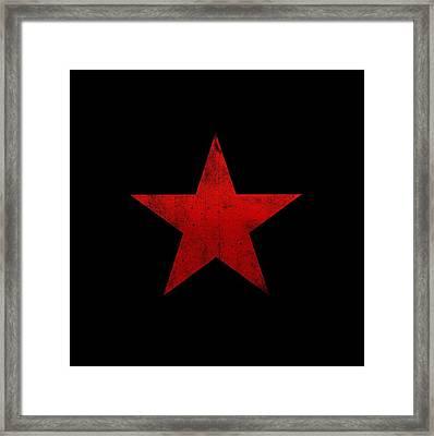 Guerilla Warfare Red Star Framed Print by Illustratorial Pulse