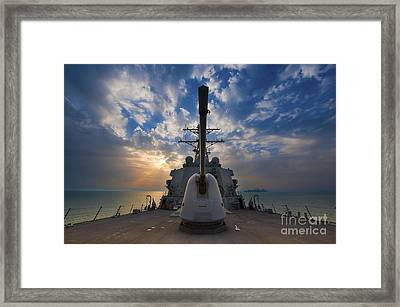 Guided-missile Destroyer Uss Higgins Framed Print by Stocktrek Images