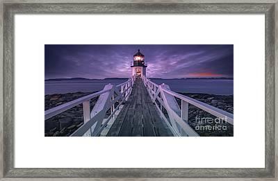 Guiding Light Framed Print by Marco Crupi
