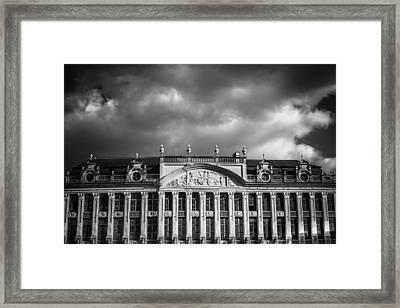 Guild Houses Mono Framed Print by Chris Fletcher