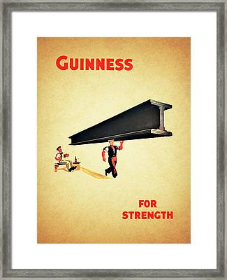 Guiness For Strength Framed Print by Mark Rogan