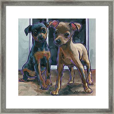 Guinness And Bailey Framed Print by Nadi Spencer
