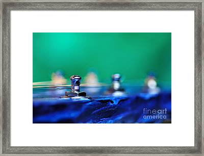 Guitar Abstract 7 Framed Print by Kaye Menner