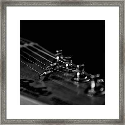 Guitar Close Up 1 Framed Print by Stelios Kleanthous
