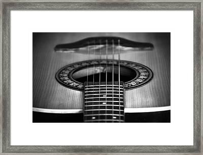 Guitar Close Up Framed Print by Svetlana Sewell