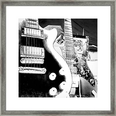 Guitar Duo Framed Print by David Patterson