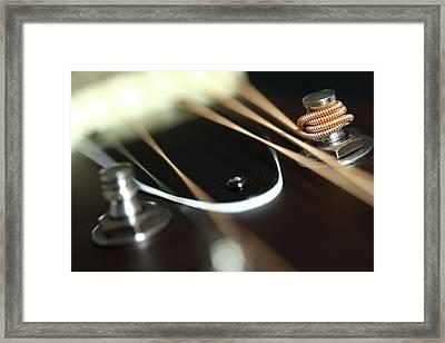 Guitar Fender Framed Print by Mizanur Rahman