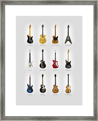 Guitar Icons No2 Framed Print by Mark Rogan