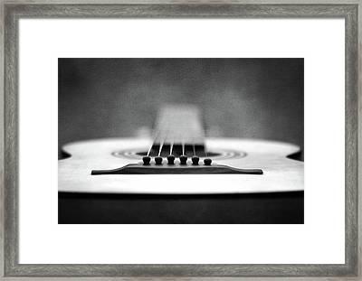 Guitar Framed Print by L. Shaefer