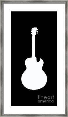 Guitar Tee Framed Print by Edward Fielding