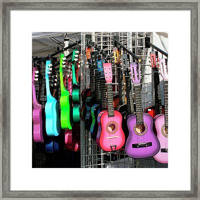 Guitar World Framed Print by William Dey