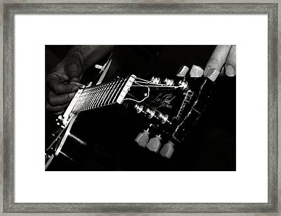Guitarist Framed Print by Stelios Kleanthous