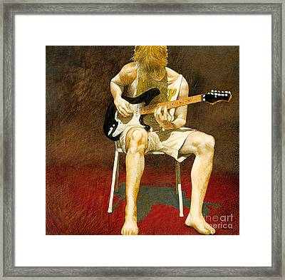 Guitarman... Framed Print by Will Bullas