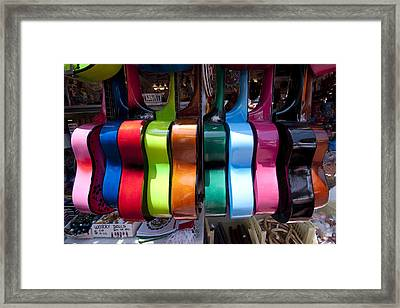 Guitars Framed Print by Mike Herdering