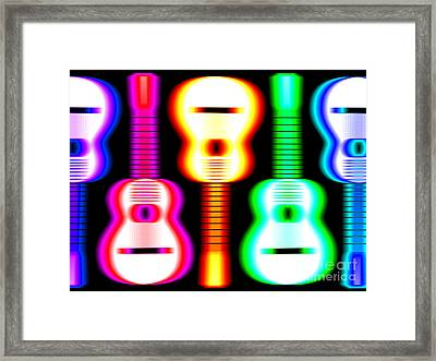 Guitars On Fire 3 Framed Print by Andy Smy