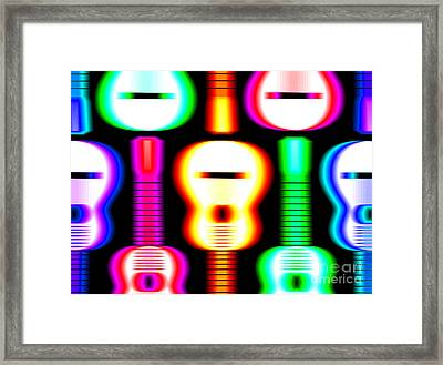 Guitars On Fire 4 Framed Print by Andy Smy