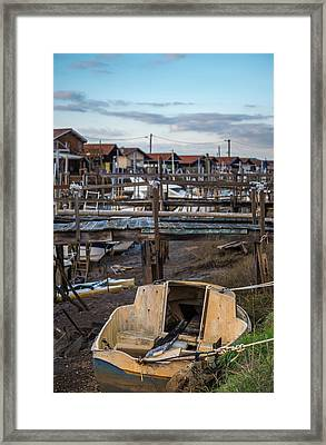 Framed Print featuring the photograph Gujan Mestras II by Thierry Bouriat