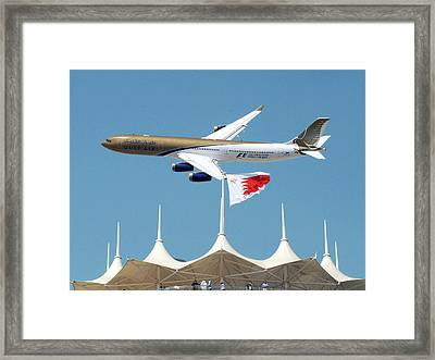 Gulf Air A340 Framed Print by Graham Taylor