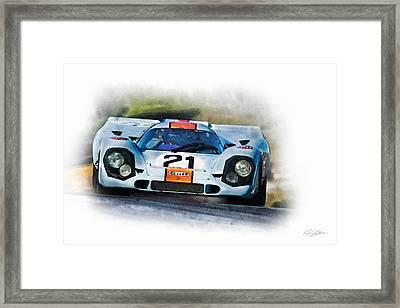 Gulf Porsche Framed Print by Peter Chilelli