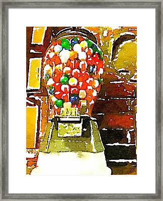 Gumballs Framed Print by Judy Bernier