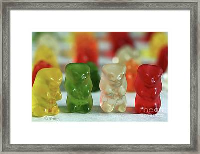 Gummy Bear Meeting Framed Print by Tracy  Hall