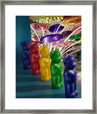 Gummy Bears All In A Row Framed Print by Chrystyne Novack