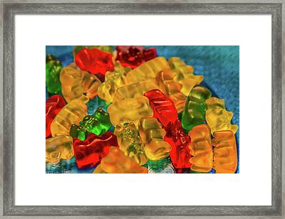 Gummy Bears Framed Print by Scott Kwiecinski