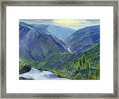 Gun Barrel Creek Framed Print by Steve Spencer