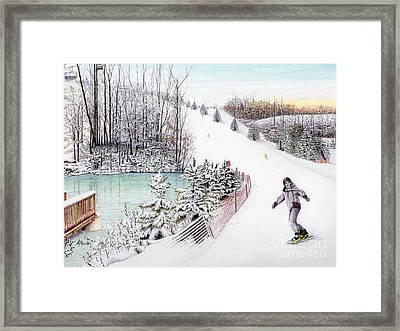 Gunnar Slope And The Ducky Pond Framed Print by Albert Puskaric