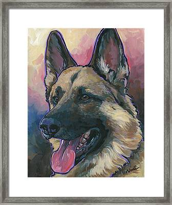 Gunner Framed Print by Nadi Spencer